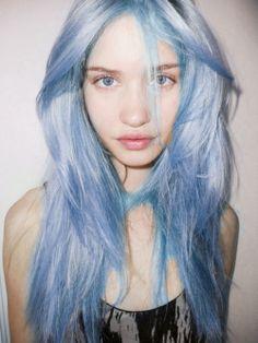 Light blue hair #pastel #blue #hair