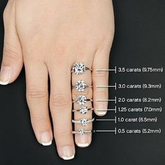 How do you know what size of diamond is right for you? Here are a few things to consider.  1. Your Budget: It's sometimes helpful to start here. Budget decides so much when it comes to purchasing diamonds and it can help you narrow down your available choices.  2. The size, length and shape of her finger. Certain shapes and sizes of diamonds will look better on different types of fingers.  3. The purpose of the ring. The importance of the occasion (engagement, anniversary, birthday, etc)…