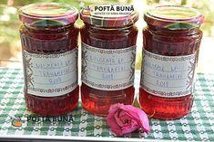 Dulceata de trandafiri fara conservanti Romanian Food, Salsa, Jar, Drinks, Cakes, Canning, Food And Drinks, Drinking, Beverages
