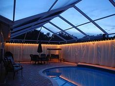 Do you want a unique, classy look that turns your pool enclosure, deck, or lanai into a private oasis? Then outdoor curtains from Private Screens are the answer! These curtains will handle everything the weather can throw at them while blocking cold winds, prying eyes, and ugly views. You can easily open and close them based on your mood, and they can increase the value of your home. We evenoffer a custom lighting option that is installed under the valence... Read More »