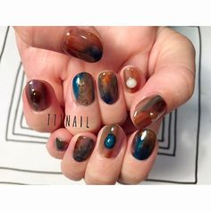 Jelly Abstract Jewell-tone Mani