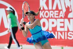 9/18/14 Wild Card Nicole Gibbs def. Wild Card Danka Kovinic 1-6, 6-4, 7-6 to advance to the QFs of the Korea Open.