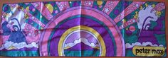 VIntage Retro Peter Max Long Scarf  Hippie  by satellitesister