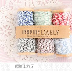 60 yards Classic Mix Bakers Twine hand wound on by InspireLovely, $15.00