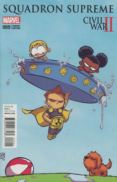 Squadron Supreme Vol 4 #9 Cover C Variant Skottie Young Baby Cover