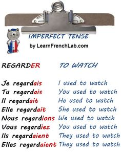 French lesson: imperfect tense