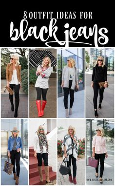 📌 Stylingtipps schwarze Jeans Source by bireschunila outfit ideas Mode Outfits, Jean Outfits, Casual Outfits, Outfits With Black Jeans, Black Jeans Outfit Winter, Black High Waisted Jeans Outfit, Colored Jeans Outfits, Chambray Shirt Outfits, Stylish Mom Outfits