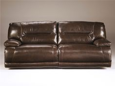 Ashley Furniture Signature Design Exhilaration Reclining Sofa Pull Tab Manual Reclining Couch Chocolate ** Click image for more details. (This is an affiliate link) Power Reclining Loveseat, Leather Reclining Sofa, Ashley Furniture Sofas, Condo Furniture, Furniture Ideas, Brown Leather Recliner, Leather Couches, Sofa Couch, Recliner Chairs