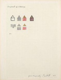 jennifer bartlett - study for rhapsody Study Design, Simple House, Sketchbooks, Sketch Books, Visual Diary