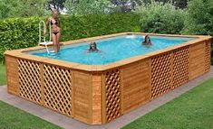 Having a pool sounds awesome especially if you are working with the best backyard pool landscaping ideas there is. How you design a proper backyard with a pool matters. Oberirdischer Pool, Swimming Pool Decks, Swimming Pool Landscaping, Swimming Pool Designs, Lap Pools, Indoor Pools, Above Ground Pool Landscaping, Above Ground Pool Decks, In Ground Pools