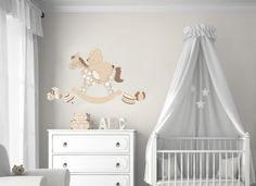 Adesivi Murali Bambini, Decorazioni Camerette, Cavallo a dondolo : Decorazioni…