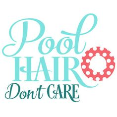 Silhouette Design Store - View Design #136265: pool hair don't care
