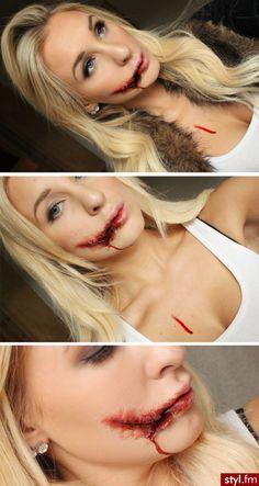 Halloween make up Horror Makeup, Scary Makeup, Sfx Makeup, Costume Makeup, Simple Zombie Makeup, Wound Makeup, Devil Makeup, Clown Makeup, Simple Makeup