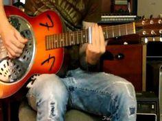 Open D tuning slide guitar blues - YouTube