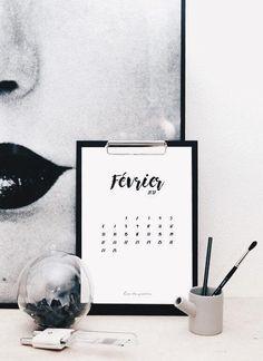 Le calendrier de Février 2017 • [FREE PRINTABLE]