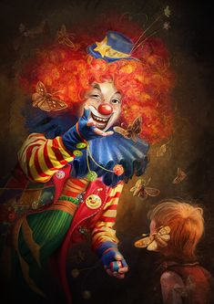 Clown by irish-blackberry.deviantart.com on @deviantART I NORMALLY DO NOT LIKE CLOWNS but love this for some reason.