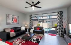 Black And Red Living Room Decor Home