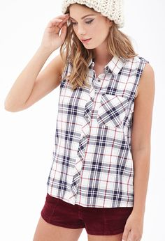 Sleeveless Plaid Shirt #F21StatementPiece for shirt