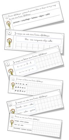 Vocabulary Rituals: Alphabetical Order and Dictionary – Tip of Gom … School Organisation, Montessori Education, Alphabetical Order, Teaching French, Word Work, Literacy Centers, Kids Learning, Teaching Resources, Back To School