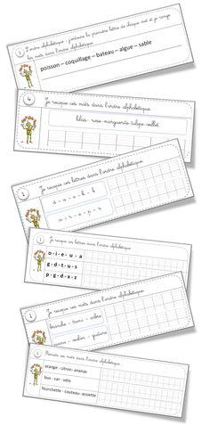 Rituels vocabulaire : l'ordre alphabétique et le dictionnaire - Bout de gomme