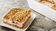 Summer is the perfect time for strawberries, which coincidentally, is the ideal time for this cake. Made with fresh strawberries, sweet, frozen cream and crunchy Nature Valley™ granola bars, look no further for the ultimate summer sweet.