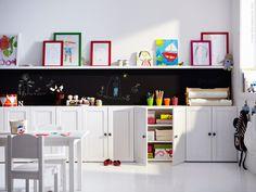 IKEA STUVA. Lego should be behind cupboard door in clear plastic draws as…