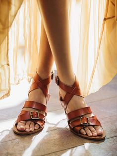 Free People Colette Vegan Sandal, $98.00 Love the basic cognac and I can really get excited about one of the hot new colors on the horizon.......sapphire!