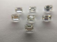 White emerald cut diamond