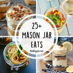 There are so many things to eat in a mason jar. Why not try one of these mason jar eats the next time you need a fun way to serve a classic. Mason Jar Pies, Mason Jar Lunch, Mason Jar Desserts, Mason Jar Meals, Meals In A Jar, Jar Recipes, Great Recipes, Cooking Recipes, Favorite Recipes