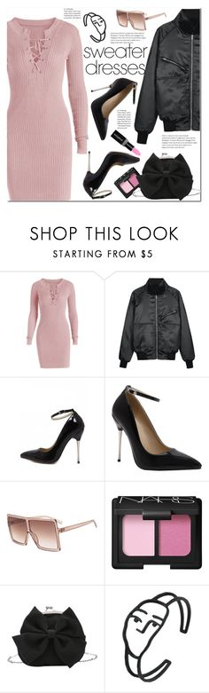 """Cozy and Cute: Sweater Dresses"" by duma-duma ❤ liked on Polyvore featuring NARS Cosmetics, Smashbox and sweaterdresses"