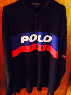 "Luxury Vintage Store (Clothing & Accessories): Polo Sport Men's P RACER 1992 ""SPELLOUT"" Long Slee..."