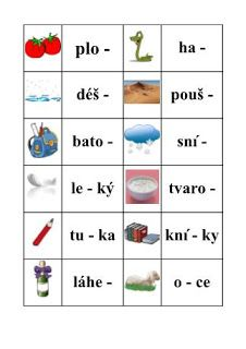 Školní hrátky: Spodoba znělosti karty s obrázky Montessori, Back To School, Homeschool, Language, Activities, Education, Petra, Teaching Ideas, Logo