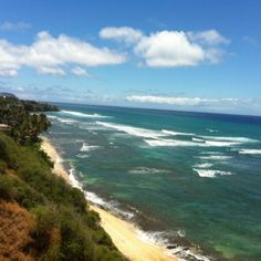 Diamond Head lookout - Hawaii - Saw baby whales frolicking here last weekend : )