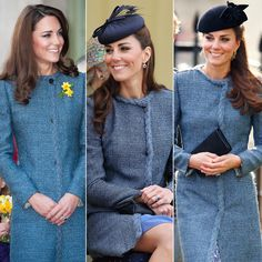 Wearing a tweed coat to a March 2012 tea in London, a Diamond Jubilee event in June 2012, and a friend's March 2014 wedding—where another guest happened to be sporting the same coat!   - Redbook.com