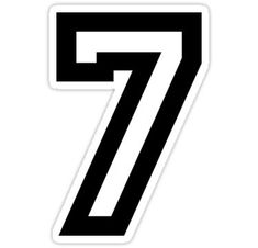 Number Seven Sticker Cholo Art, Chicano Art, Number Template Printable, T Shirt Fonts, Number Tattoos, Worship Backgrounds, I Love You God, Alphabet Stencils, Fashion Illustration Sketches
