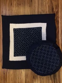 Made my own pad and cushion including the sashiko elements.