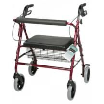 Complete Medical Supplies, Inc. ROLLATOR BARIATRIC W/PAD SEAT RED W/BASKET from Mountaineer Complete Care-$216.90