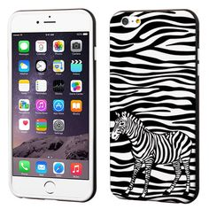 Zebra Skin For iPhone 6S/6 (4.7), iPhone 6S/6 Plus (5.5), Galaxy S6, Galaxy S6 Edge Impact Rubber And Leather Cover Case