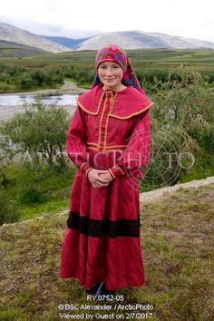 Image of kristina neyva, a young khanty woman, in the polar ural mountains. yamal, western siberia, russia by ArcticPhoto