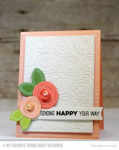 Circle Scribble Flowers, Totally Happy, Circle Scribble Flowers Die-namics, Scribbles Die-namisc, Stitched Fishtail Flags STAX Die-namics - Karolyn Loncon  #mftstamps