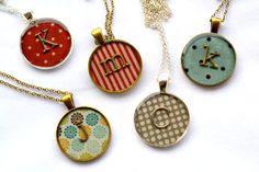 A monogram pendant with plenty of personality.