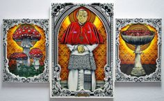 The Mushroom Cult & Stained Glass by Pale Horse , via Behance