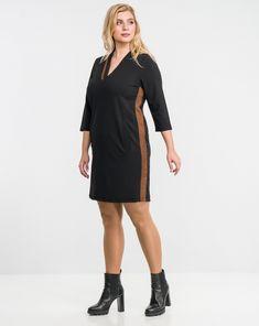 Regular Fit : Φόρεμα σε γραμμή σάκος-1072 Black, Dresses, Fashion, Vestidos, Moda, Black People, Fashion Styles, Dress, Dressers