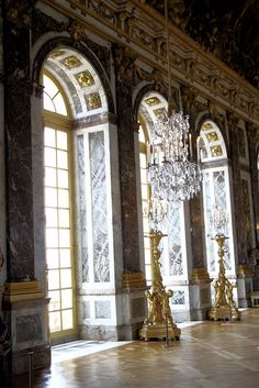 Hall of Mirrors, Château de Versailles Versailles, Hall Of Mirrors, Palace, Scenery, Architecture, February, Photography, Windows, France