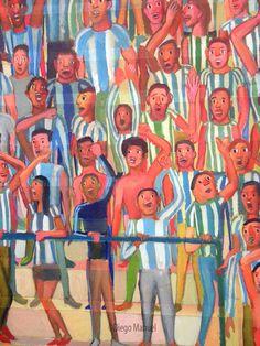 Gran Tribuna 2, acrylic on canvas, 130 x 95 cm, 2014
