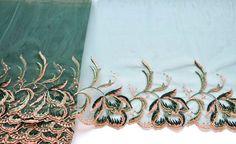 Dunkel grün Lace Trim, Smaragd Grün bestickt trimmen, Kupfer anf Greeen trimmen, Ballett Kostüme Dessous, historischen Kostüm