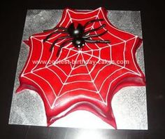 Homemade Spider Web Cake  Going to try this soon.