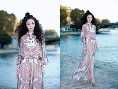 2016/10/04:張馨予出席2017春夏巴黎時裝周