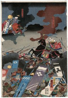 Direct Confrontation between the Two Generals at the Battle of Kawanakajima 川中島両将直戦の図 | Museum of Fine Arts, Boston