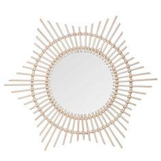 Miroir rond en bambou D.90cm ASTANA